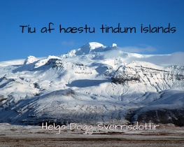 Tíu af hæstu tindum Íslands