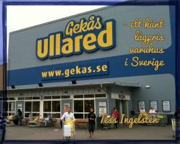Gekås Ullared - ett känt lågpris varuhus i Sverige