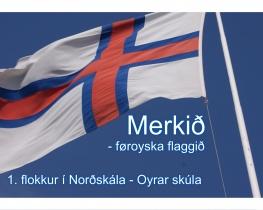 Merkið - føroyska flaggið